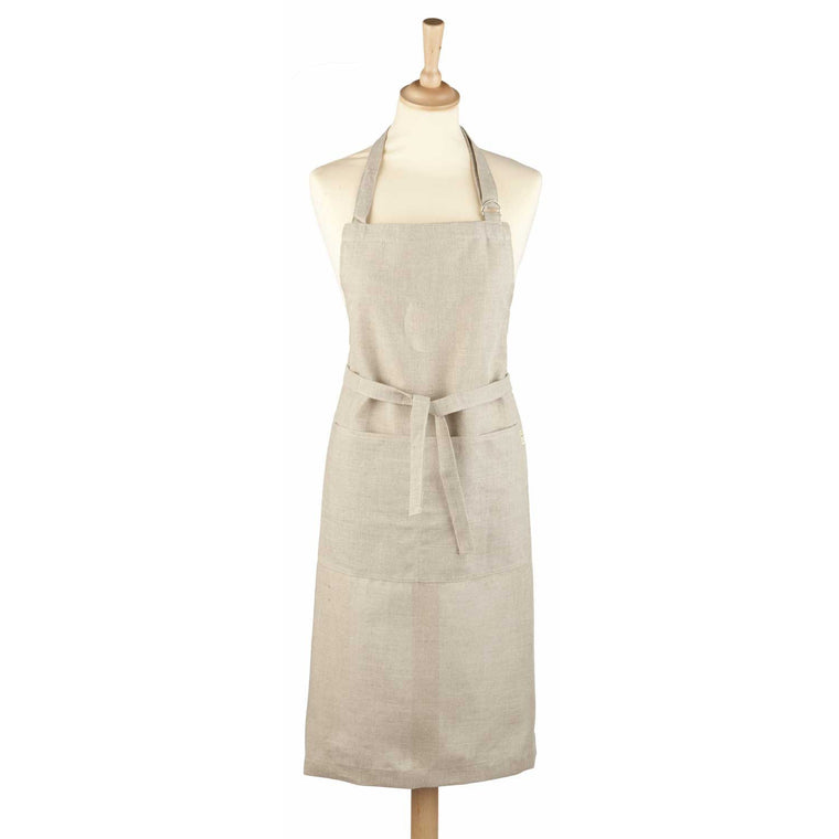 Natural Linen Cooking Apron