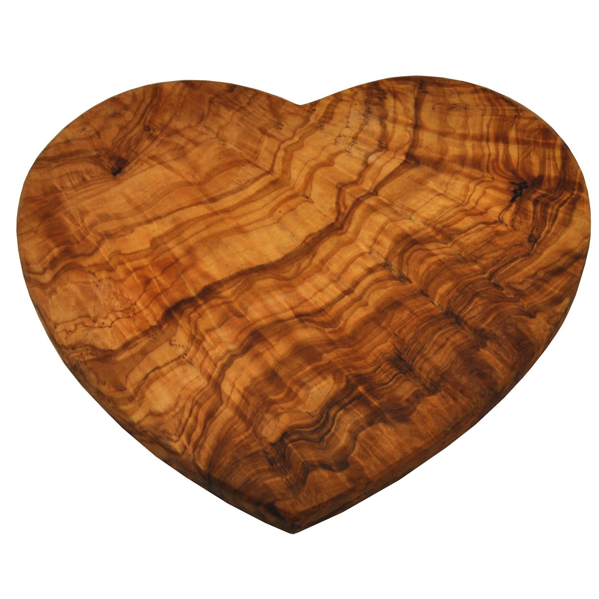 Heart-shaped wooden chopping board