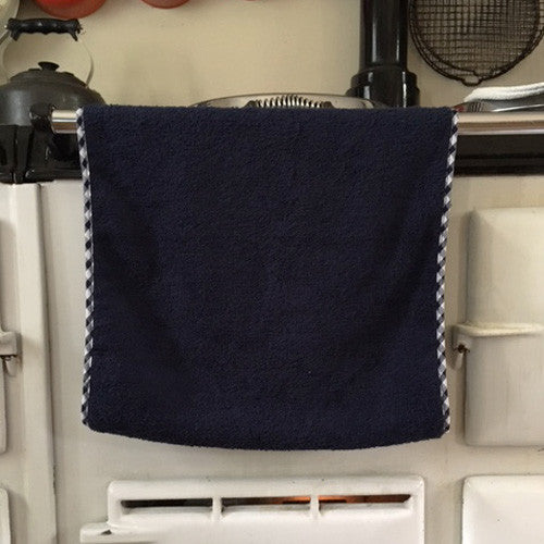 Navy blue range towel