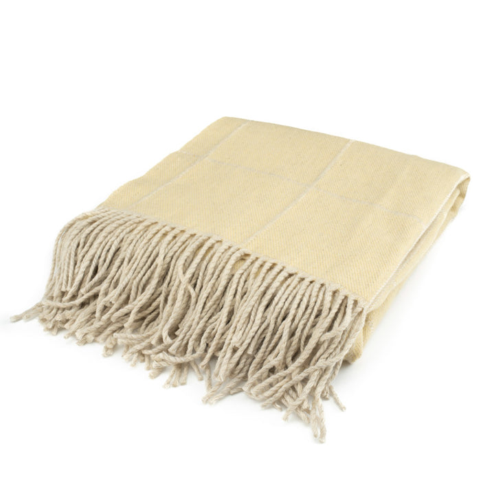 Scottish Wool Throw / Maize