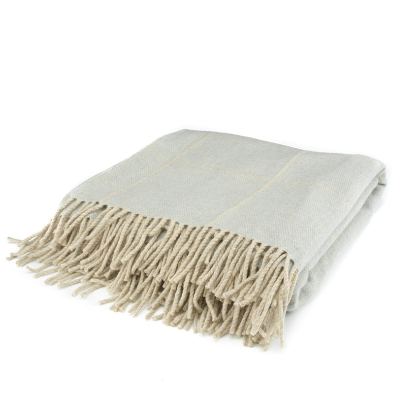 Scottish Wool Throw / Sky