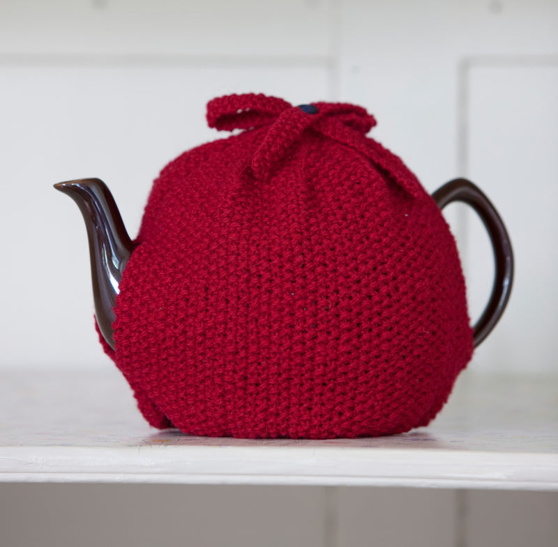 Hand Knit Wool Tea Cosy for 6 Cup Pot