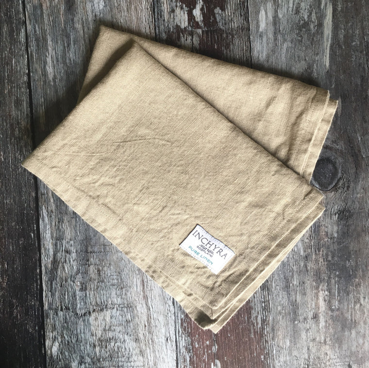 Washed Linen Tea Towel / Natural
