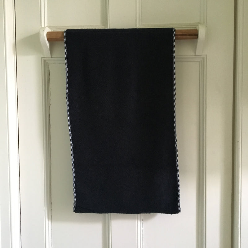 Black Roller Towel in Cotton