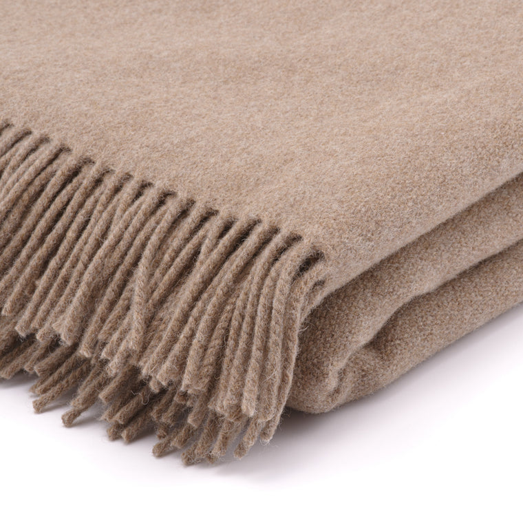The Inchyra Wool Twill Throw/Camel