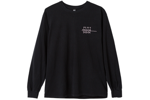 BD BOTTOMS UP LS TEE - BLACK