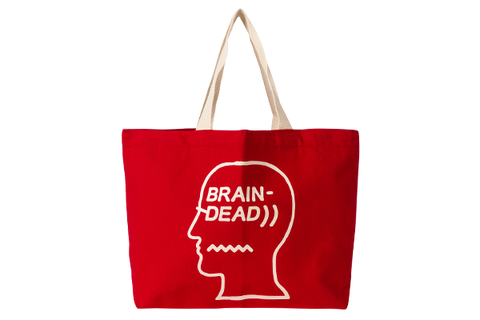 BRAIN DEAD LOGO TOTE - RED