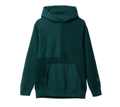 BD PANELED HOODY - FOREST