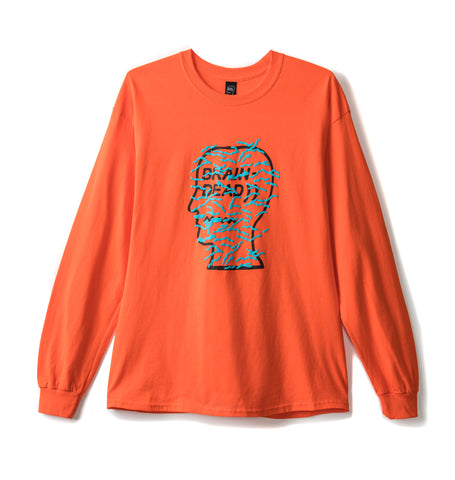 INFECTED LOGO LONG SLEEVE TEE - EMERGENCY ORANGE