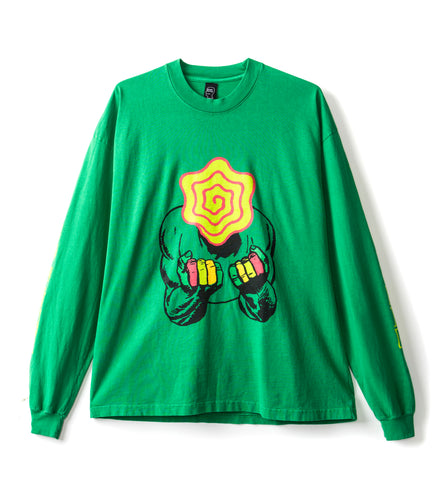 INDUSTRIAL WORKS LONG SLEEVE TEE - KELLY GREEN