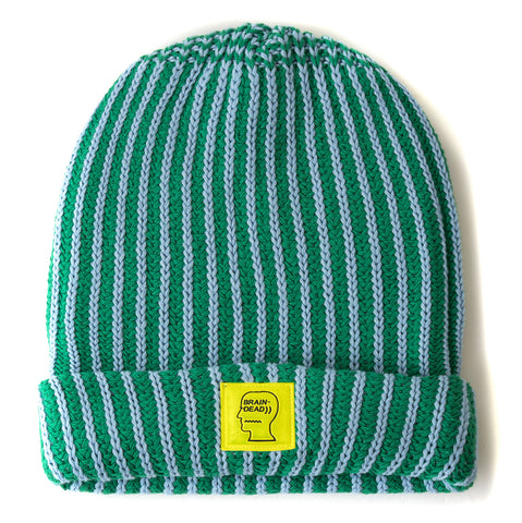 LOGO PATCH BEANIE - GREEN / BABY BLUE