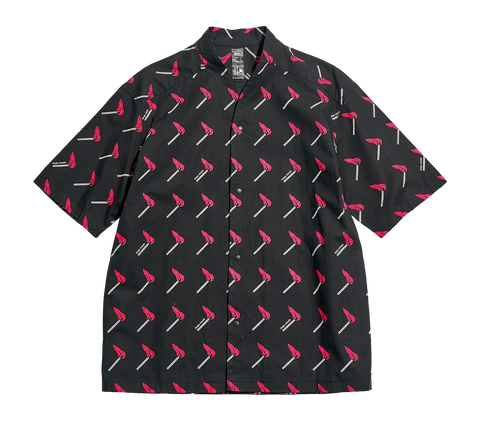 BD X SASQUATCHFABRIX - MATCH WA-NECK S/S SHIRT  - BLACK