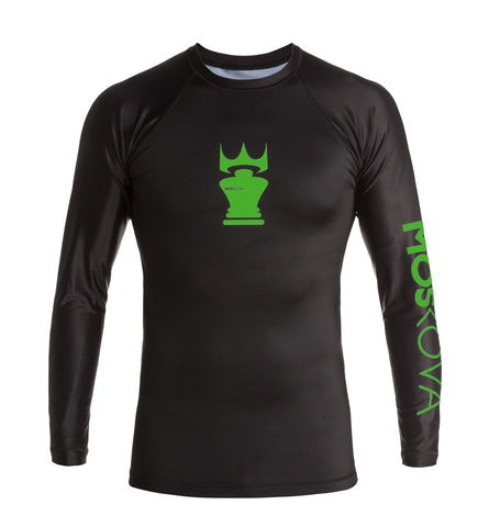 MOSKOVA TRAINING RASHGUARD BLACK/GREEN