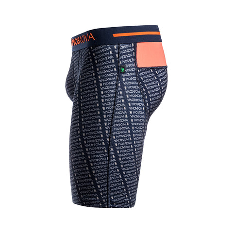 BOXER M2S LONG POLYAMIDE - MONOGRAM NAVY