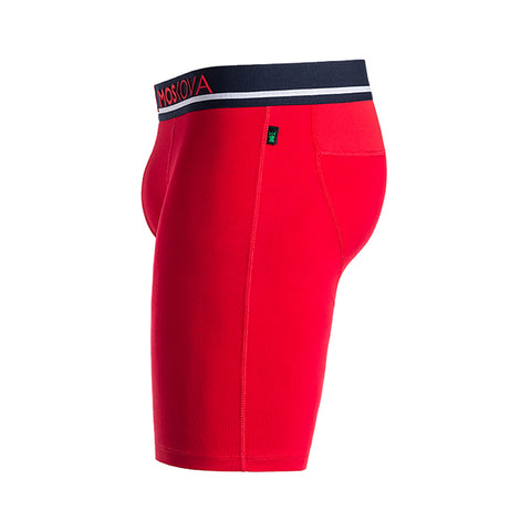 M2 Long Cotton Red/Navy Boxer Briefs