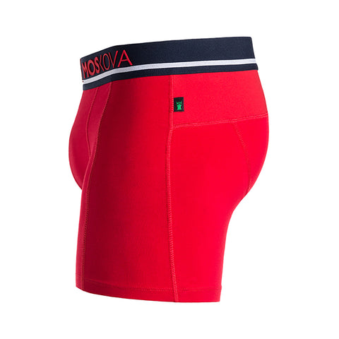 M2 Cotton Red/Navy Boxer Briefs