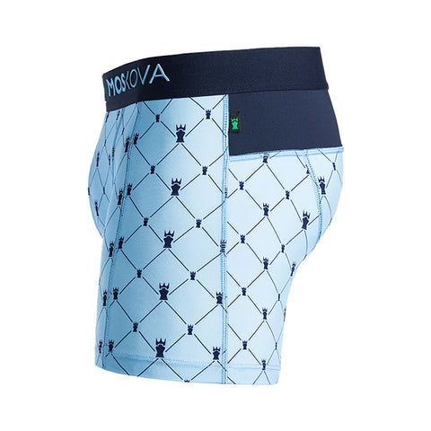 M2 Trainer Polyamide Monogramme Blue Boxer Brief