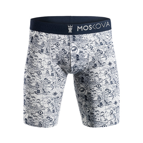 BOXER M2 LONG COTTON - MAPG - MAP GREY