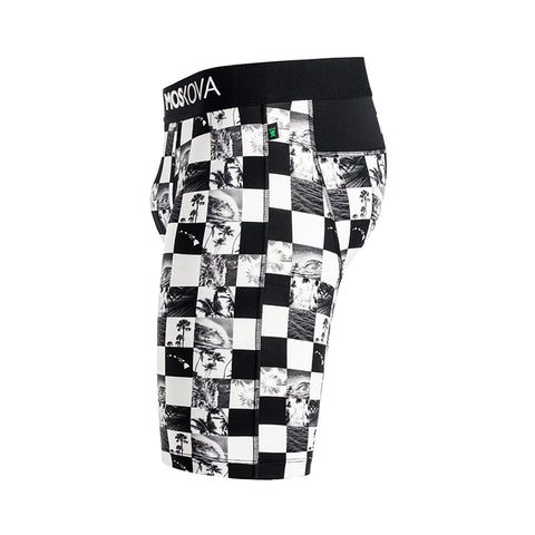 BOXER M2S LONG POLYAMIDE - HICK - HAWAIIAN CHECKER