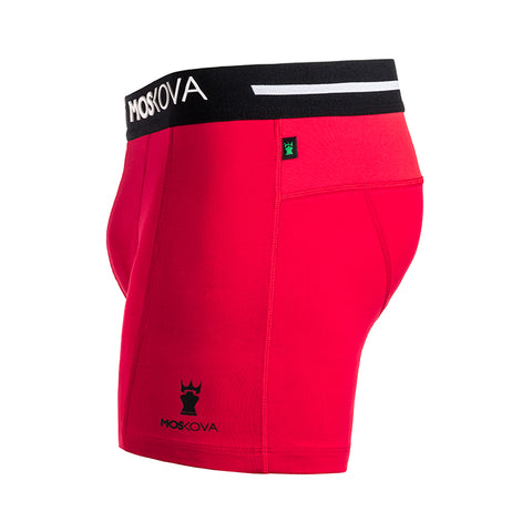 BOXER M2 COTTON - RDWB - RED/BLACK/WHITE