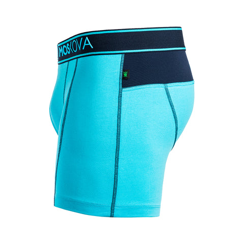 BOXER M2 COTTON - CYNV - CYAN/NAVY