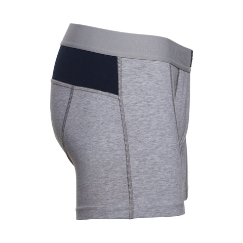 M2 Cotton Heather Grey/Navy Boxer Brief