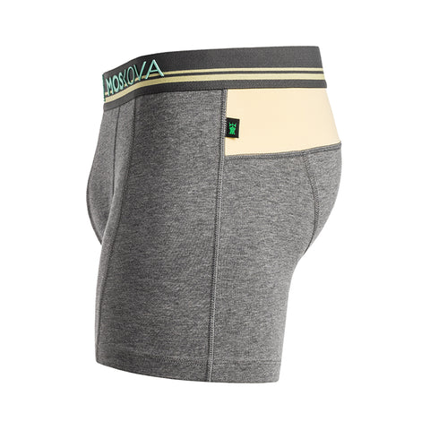 BOXER M2 COTTON - HEATHER GREY PASTEL