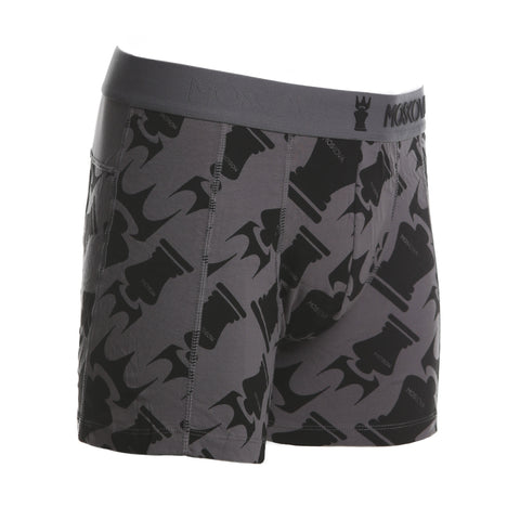 M2 Cotton Logo All Over Print Grey Boxers