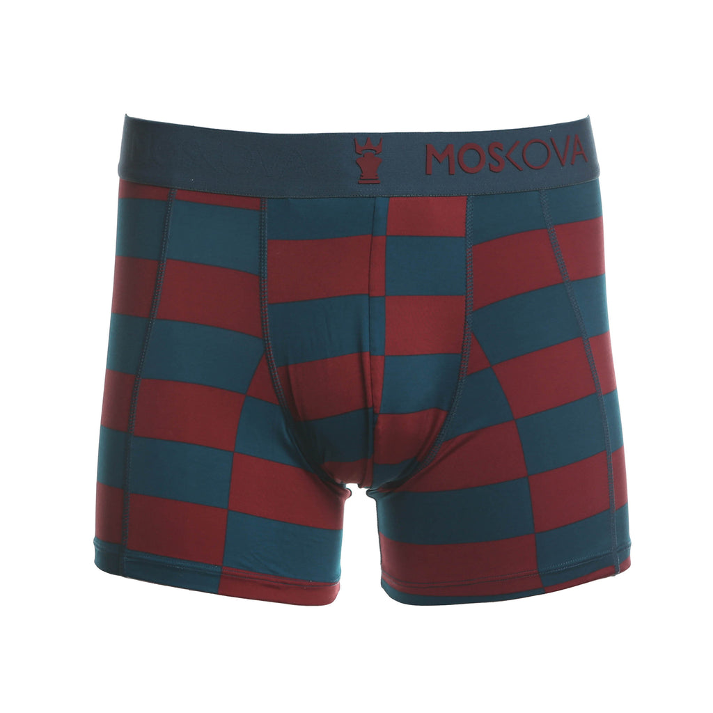 M2 Trainer Polyamide Checker Blue/Maroon Boxer Brief