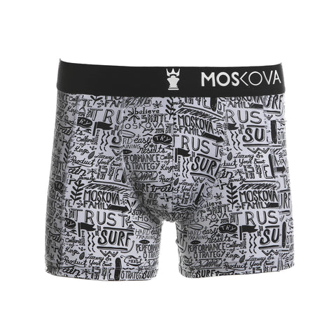 M2 Trainer Polyamide White Words Boxer Brief