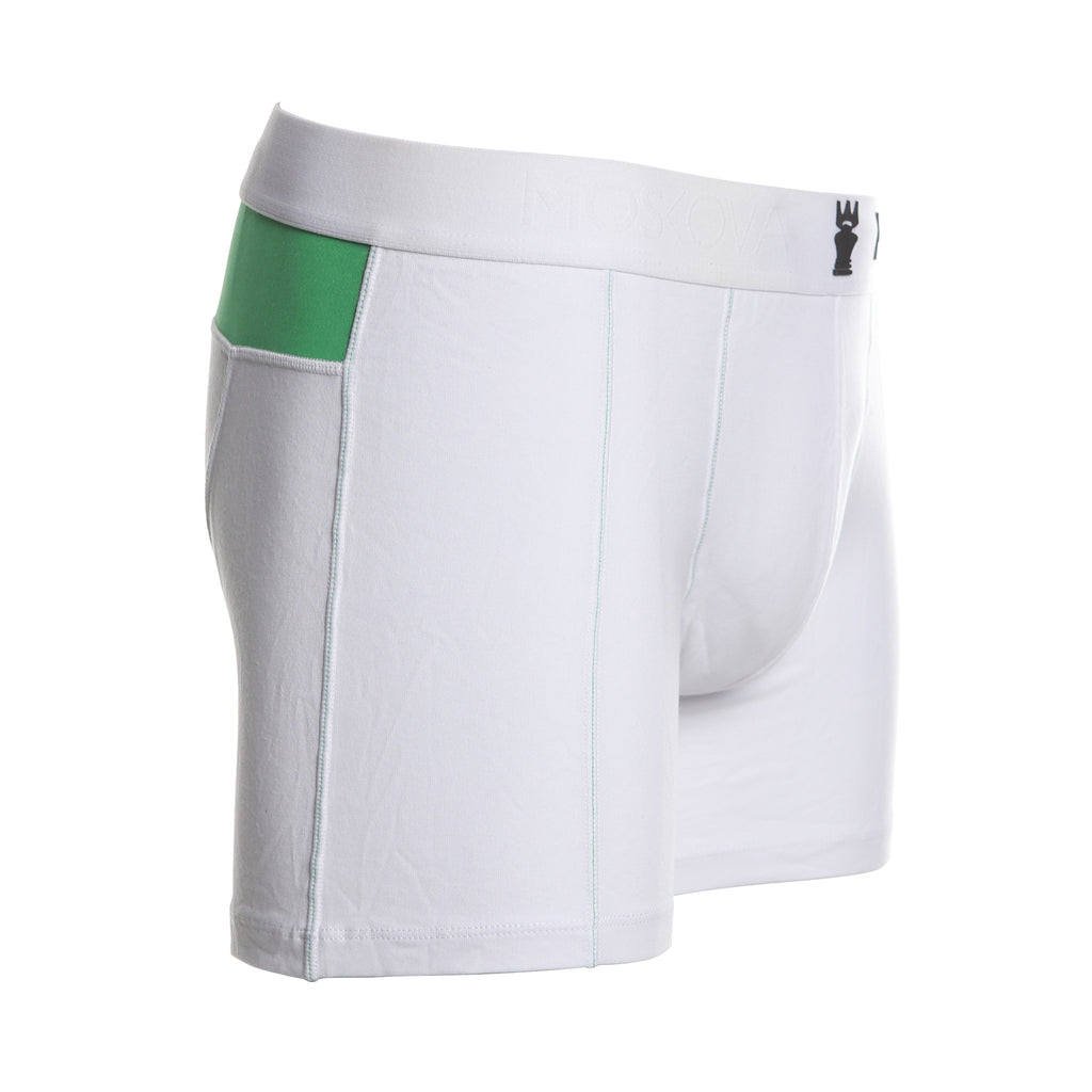 WHITE/GREENSTRIPE
