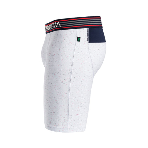 BOXER M2 LONG COTTON - NEPS WHITE