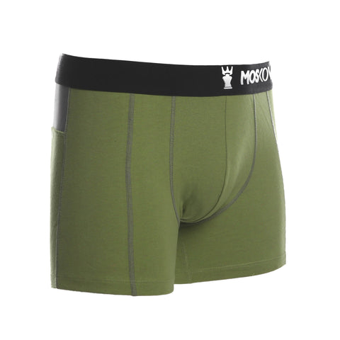 M2 Cotton Heather Yellow Avocado Boxer Briefs