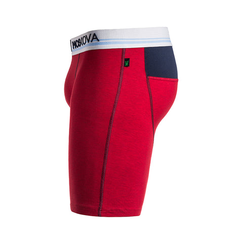M2 LONG COTTON HEATHER RED