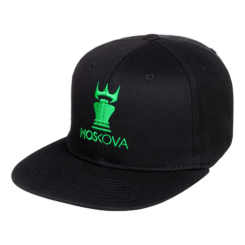 CORPO CROWN HAT BLACK/GREEN LOGO