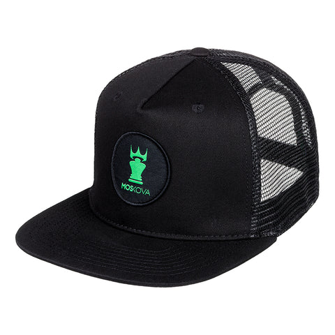 PATCH CROWN TRUCKER BLACK/GREEN