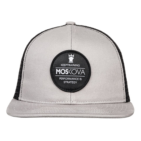 TRUCKER HAT PATCH GREY/BLACK