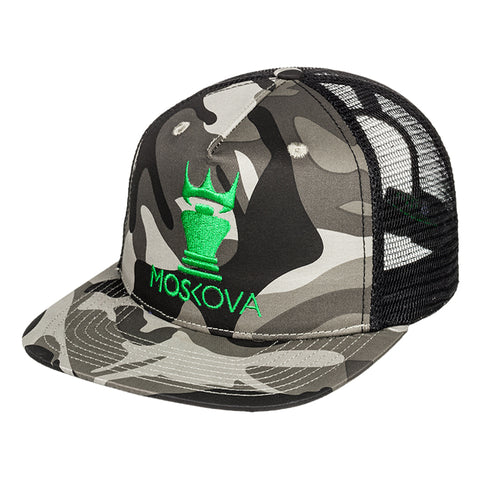 TRUCKER HAT BLACK/CAMO GREEN