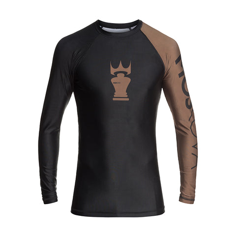 MOSKOVA RANK RASHGUARD  BLACK/BROWN