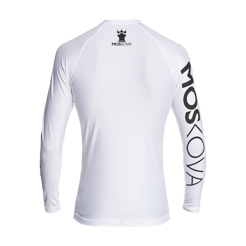 MOSKOVA TRAINING RASHGUARD  WHITE/BLACK