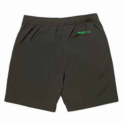 GYM SHORTS BLACK/GREEN