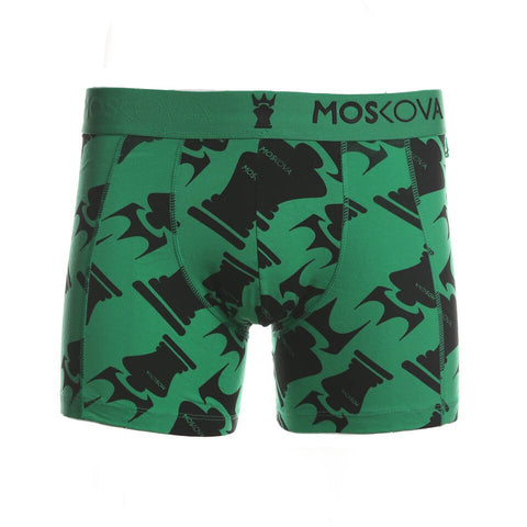 M2 Cotton Logo All Over Print Green/Black Boxer Briefs