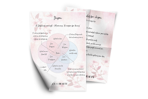 Ikigai work sheets that helps you to find your true purpose.