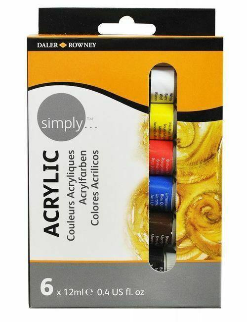 126500006 DALER ROWNEY SIMPLY ACRYLIC 6X12ML SET
