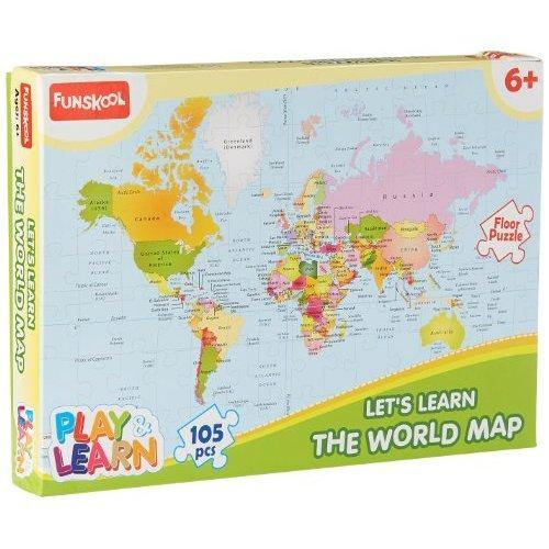 9421000 PLAY AND LEARN WORLD MAP PUZZLE 105 PCS