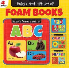 BABYS FIRST GIFT SET OF FOAM BOOKS SET OF 4 BOOKS