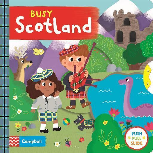 BUSY BOOKS BUSY SCOTLAND PUSH PULL SLIDE