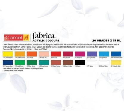 CAMLIN FABRICA ACRYLIC COLOURS ULTRA ( PEARL & METALLIC ) 20 SHADES