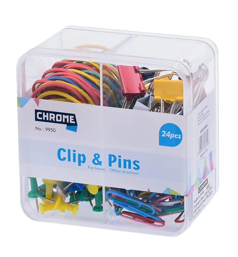 CHROME CLIP AND PIN SET