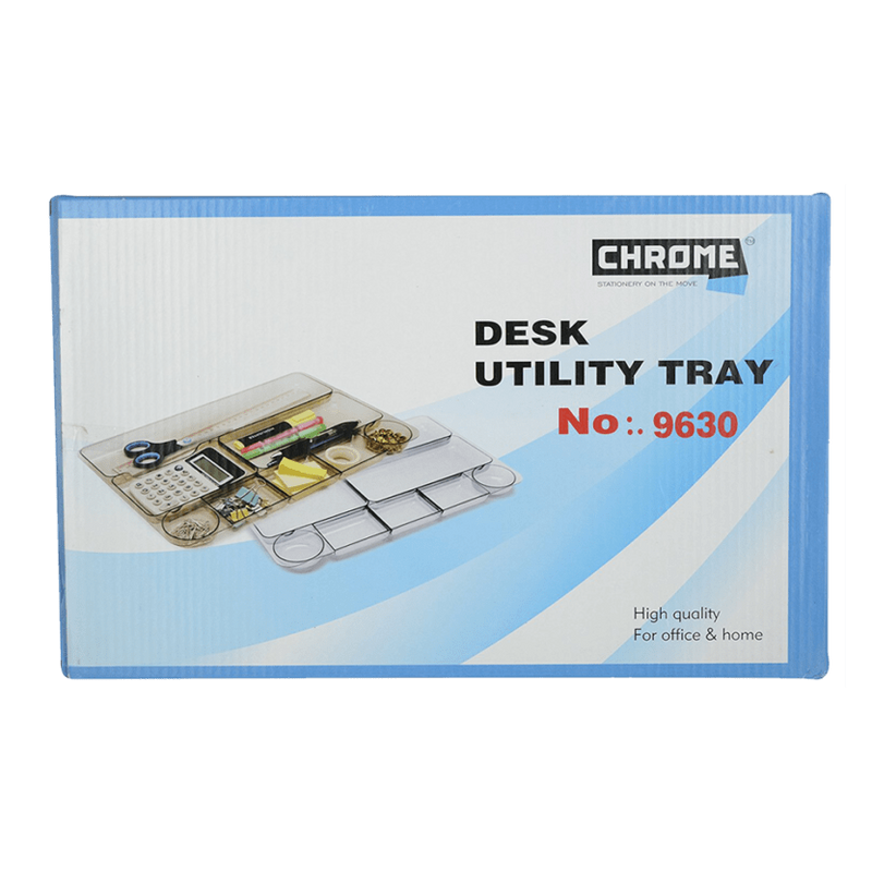 CHROME DESK UTILITY TRAY